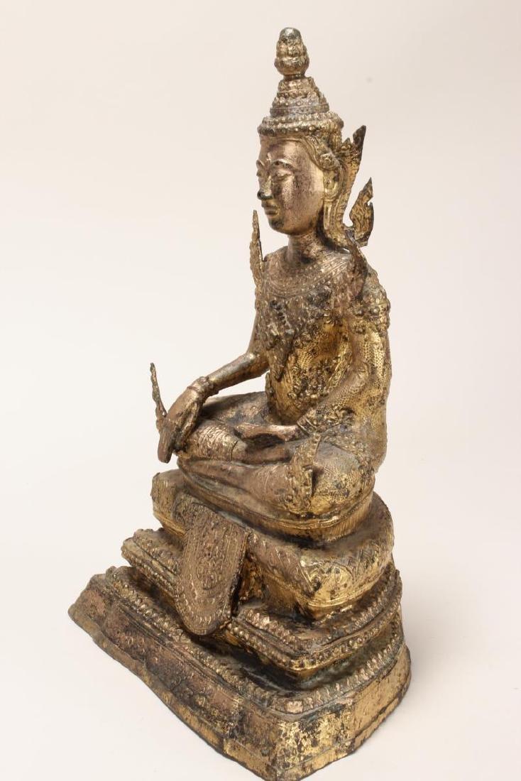Early 20th Century Gilt Bronze Buddha, - 4