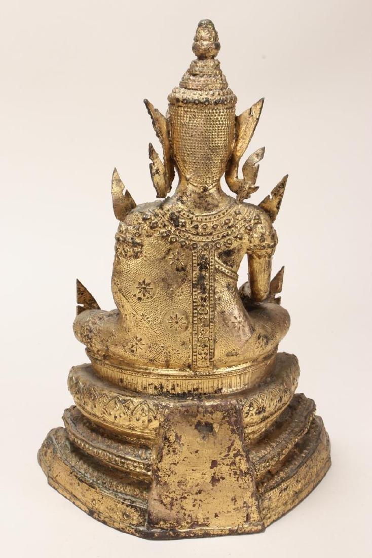 Early 20th Century Gilt Bronze Buddha, - 5