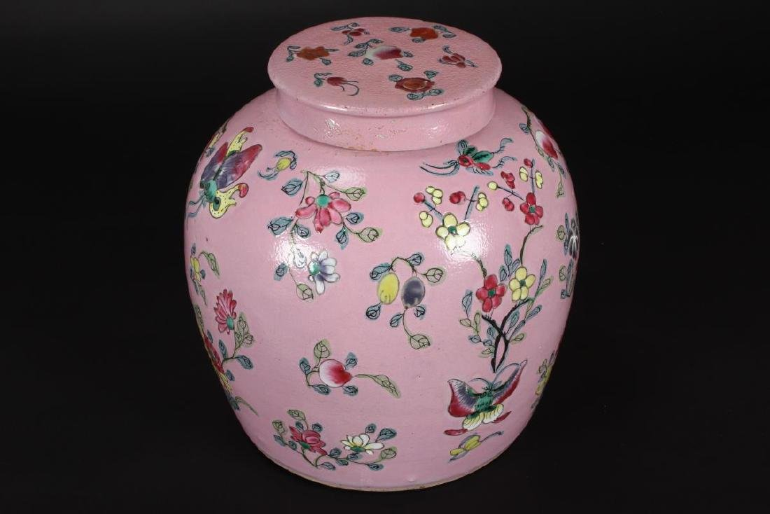 Chinese Qing Dynasty Porcelain Jar and Cover, - 3