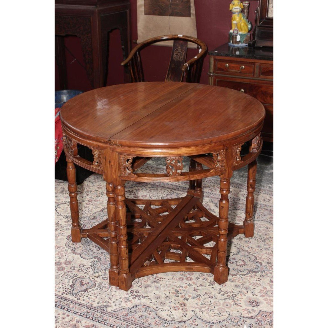 Chinese Demi Lune/Circular Top Table,