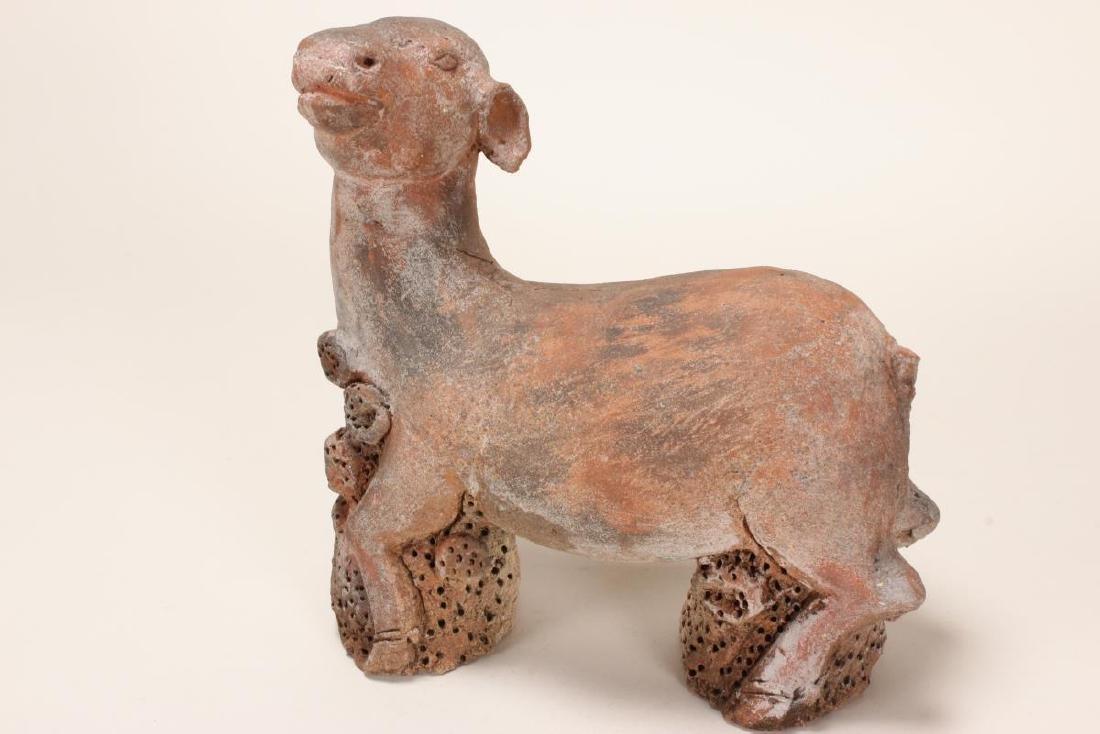 Majapahit Period Terracotta Sculpture of a Deer,