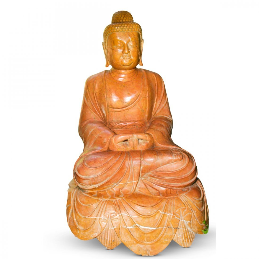 Lovely and Large Chinese Marble Seated Buddha,