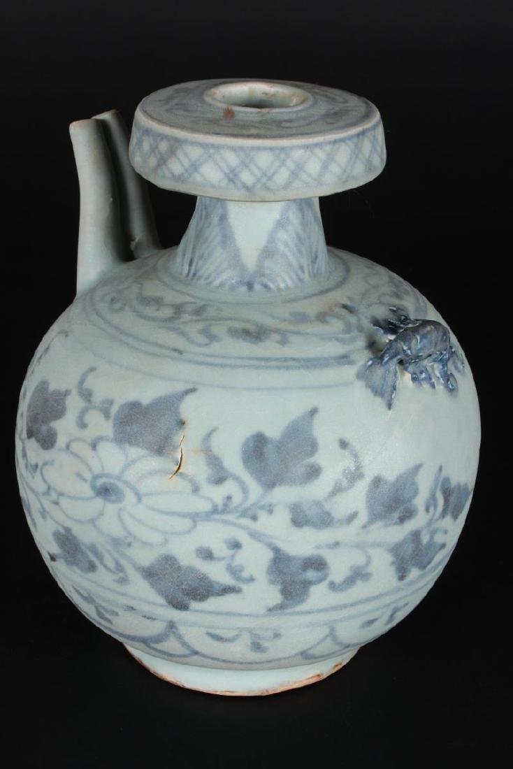 Chinese Blue and White Ewer, - 2