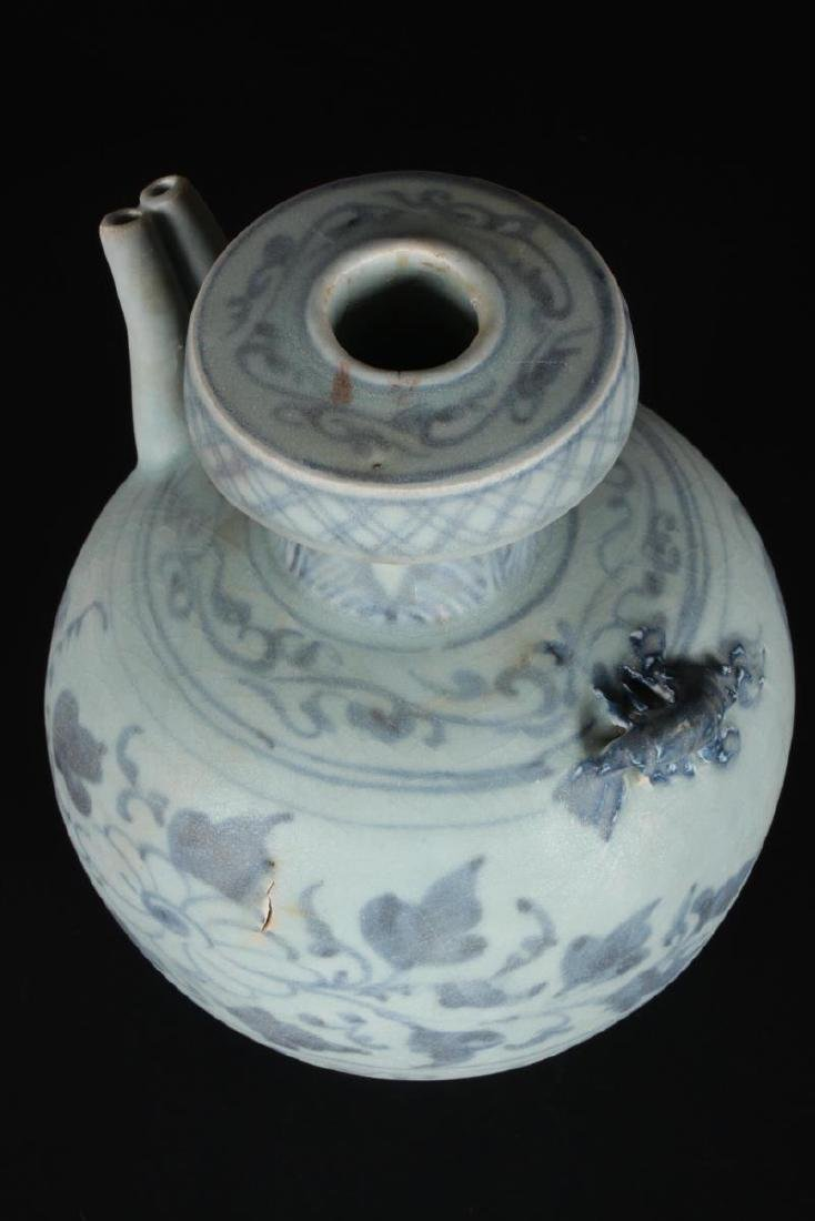 Chinese Blue and White Ewer, - 3