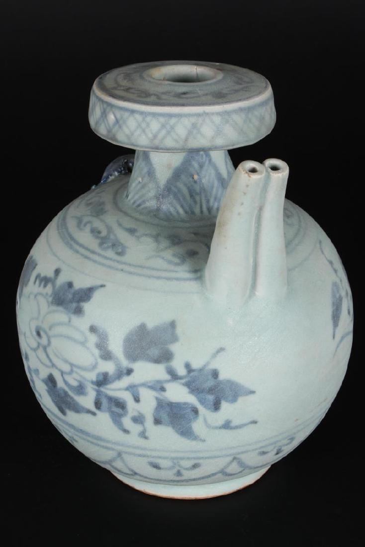 Chinese Blue and White Ewer, - 4