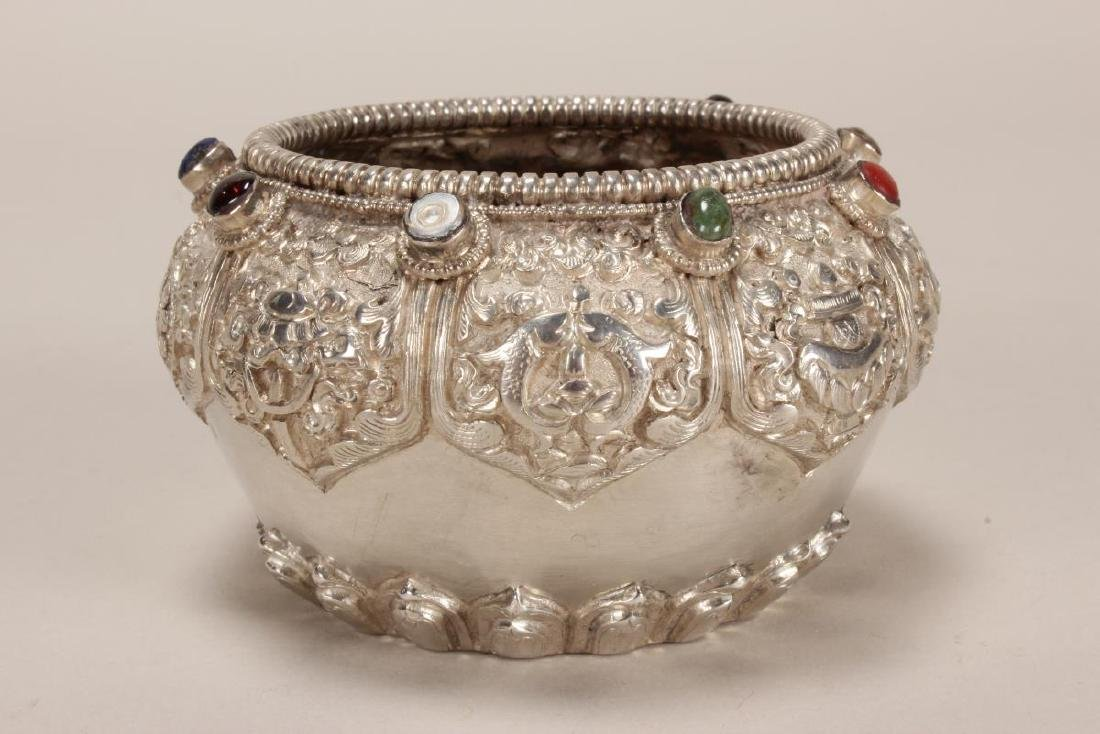 Tibetan Silvered Bowl,