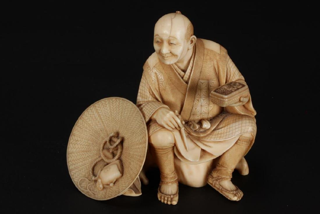 Good Japanese Carved Figure,
