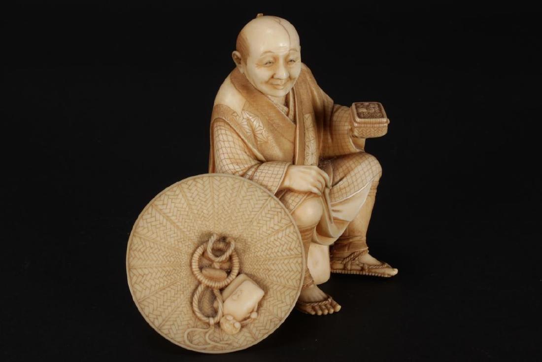 Good Japanese Carved Figure, - 2
