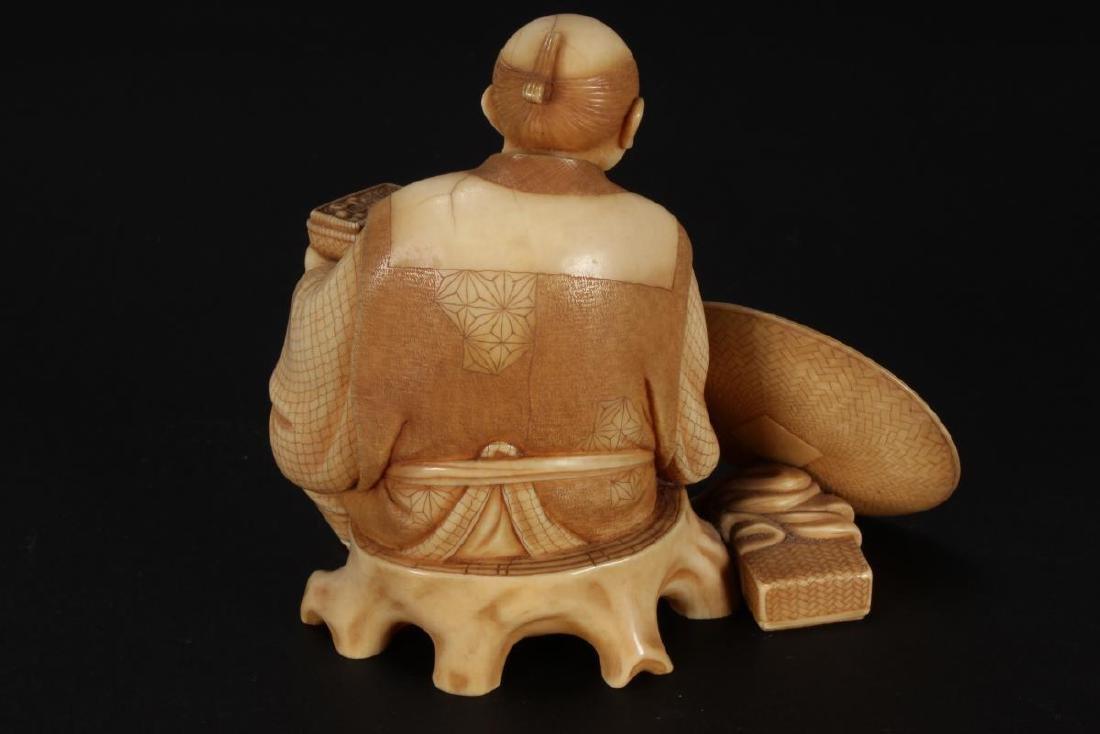 Good Japanese Carved Figure, - 3
