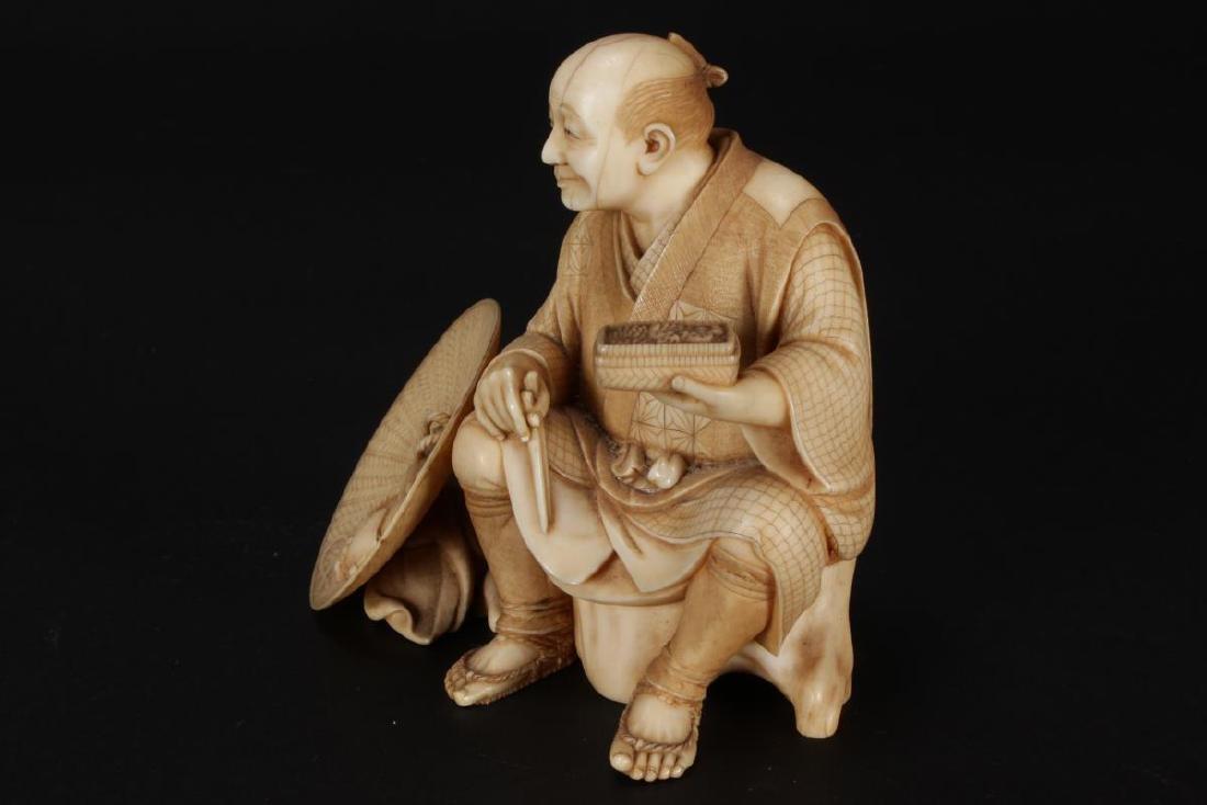 Good Japanese Carved Figure, - 4