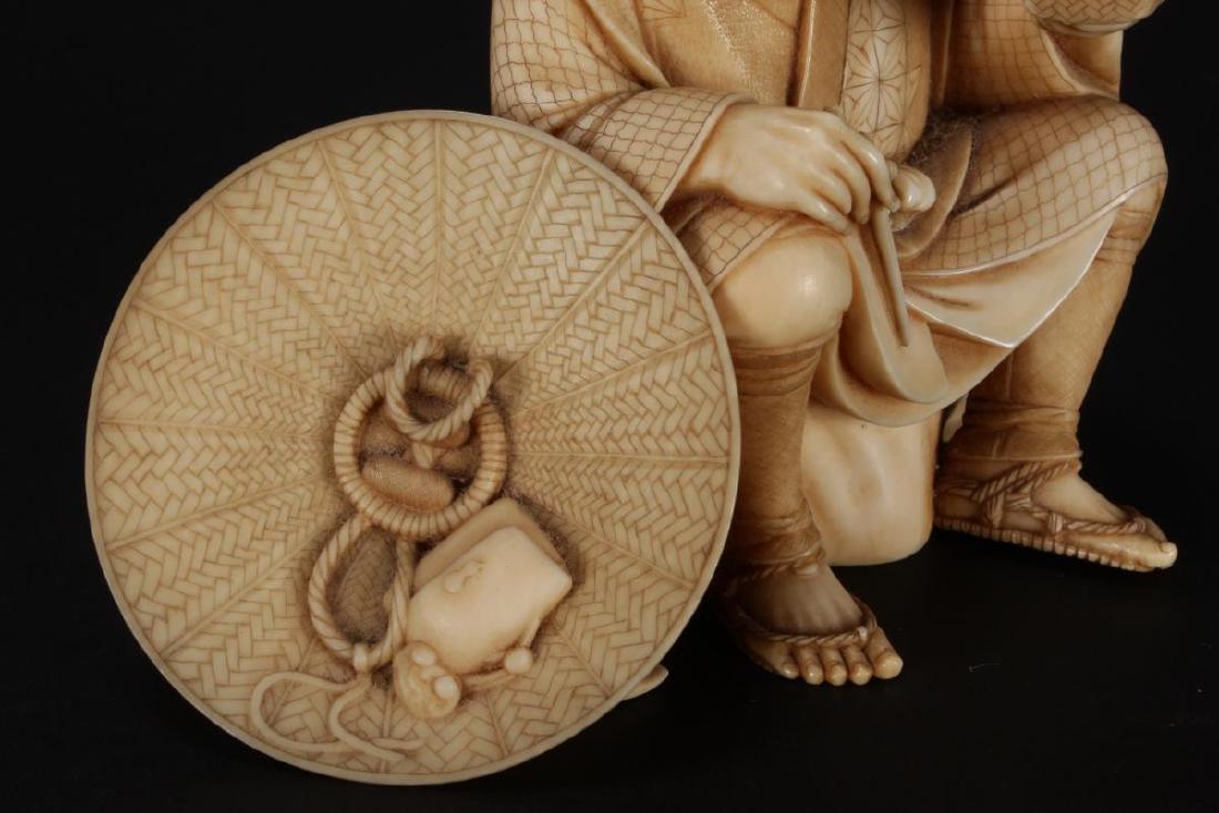 Good Japanese Carved Figure, - 5