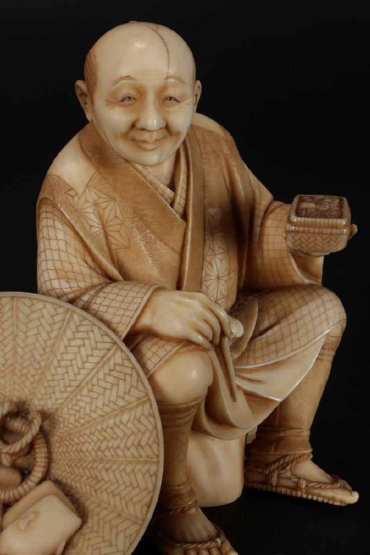 Good Japanese Carved Figure, - 6