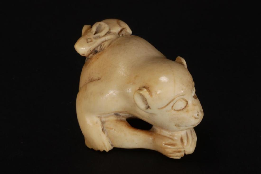 Japanese Carved Netsuke, - 3