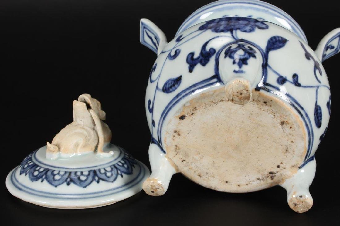 Chinese Qing Dynasty Blue and White Censor and - 5