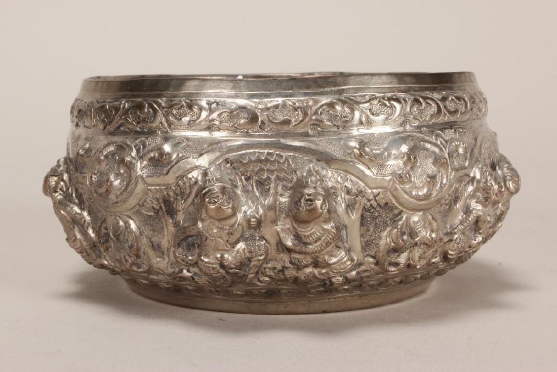 Thai Silver Bowl, - 3