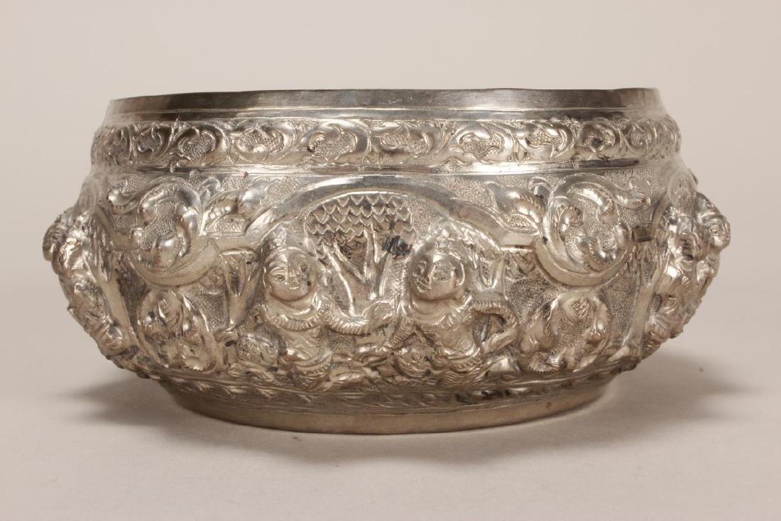 Thai Silver Bowl, - 4