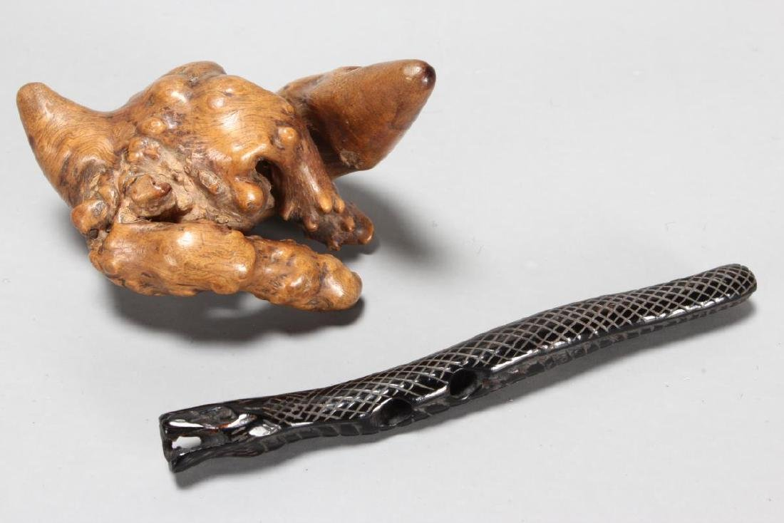Two Carved Netsuke,