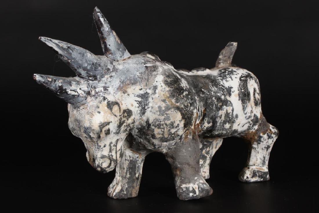 Chinese Han Style Earthenware Mythological Animal, - 3