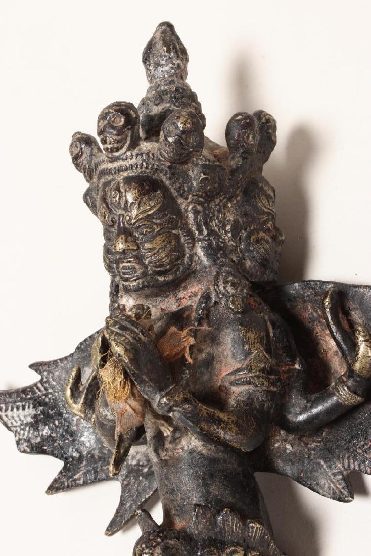 Tibetan Bronze Phurpa of Vajrapani, - 2