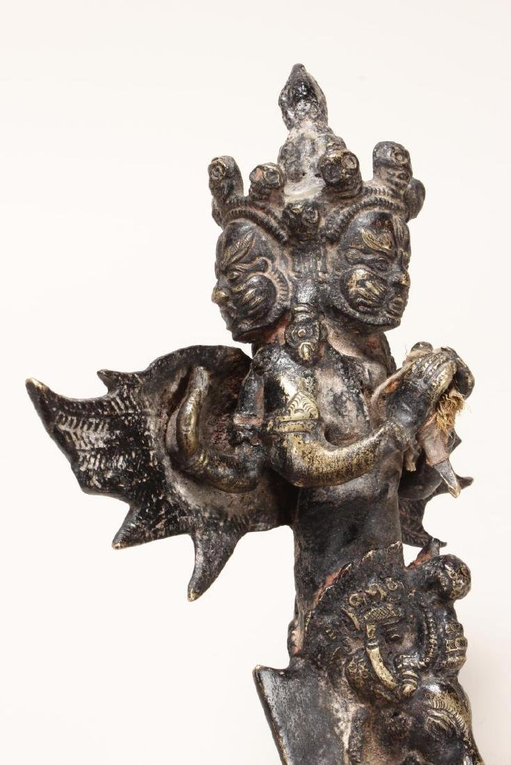 Tibetan Bronze Phurpa of Vajrapani, - 5