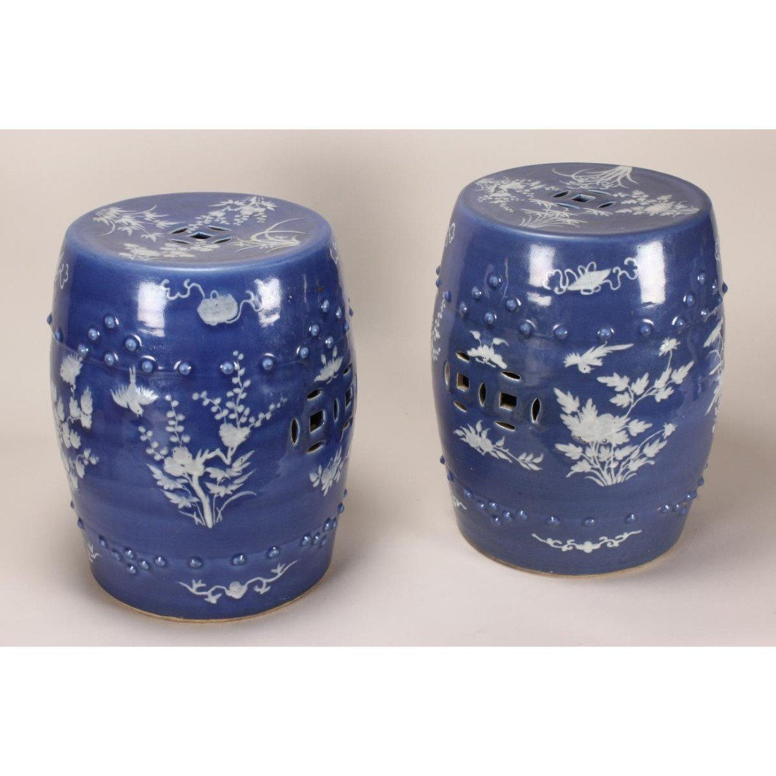 Pair of Chinese Blue and White Porcelain