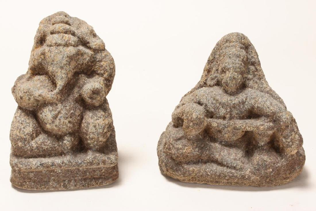Two Carved Early Indian Stone Figures,