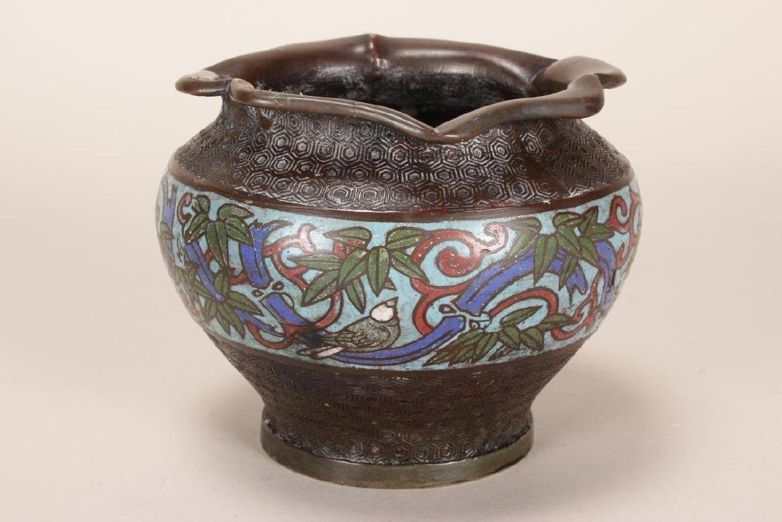 Chinese Bronze and Champleve Jardiniere,