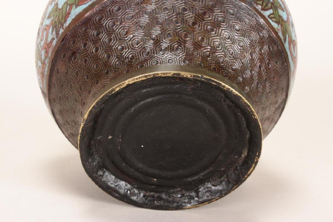 Chinese Bronze and Champleve Jardiniere, - 3