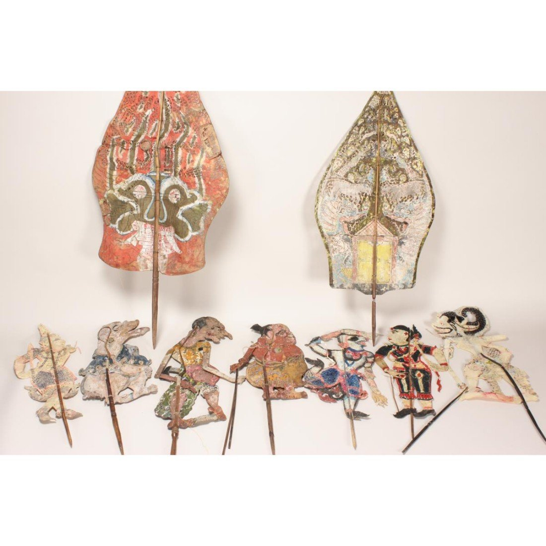 Group of Six Indonesian Shadow Puppets,