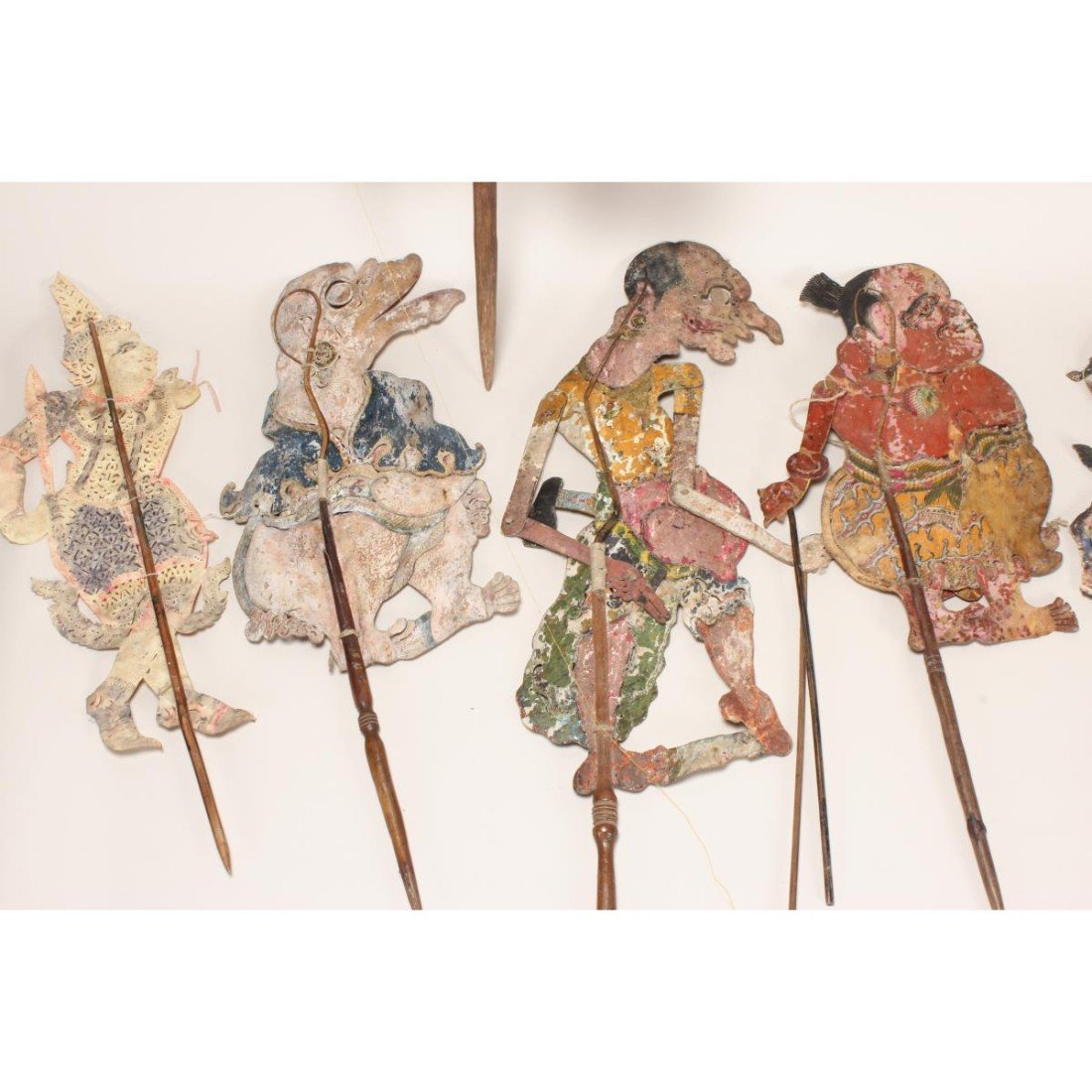 Group of Six Indonesian Shadow Puppets, - 2