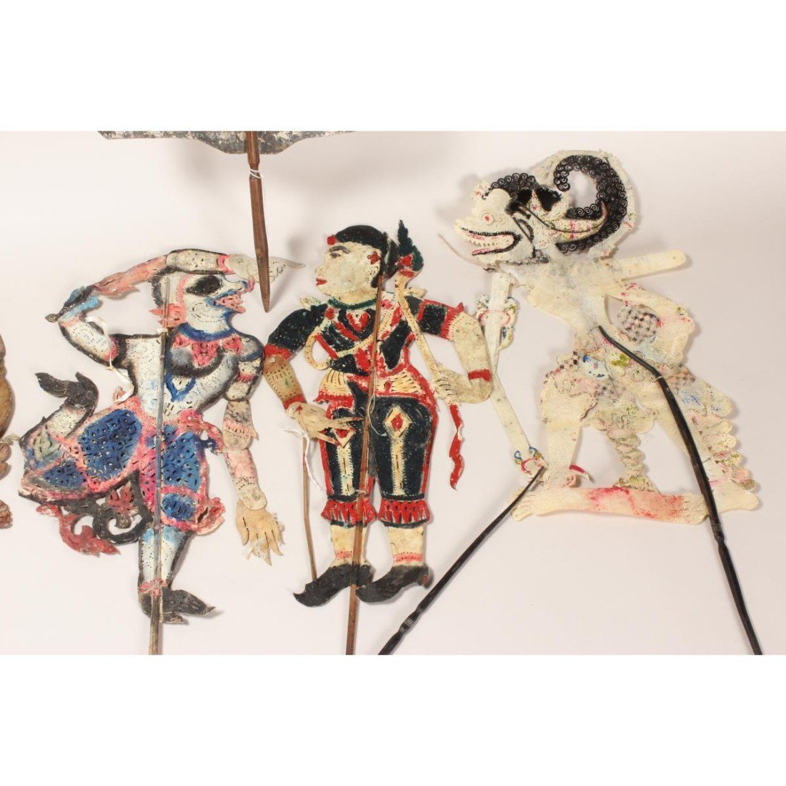 Group of Six Indonesian Shadow Puppets, - 3