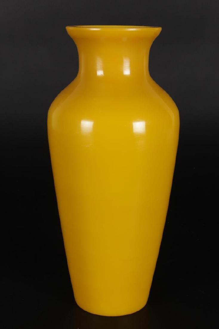 Pair of  Chinese Peking Glass Vases, - 3