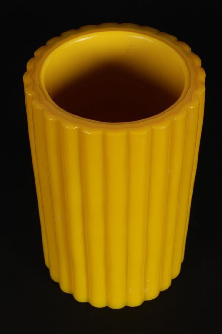 Chinese Peking Glass Brush Pot, - 2