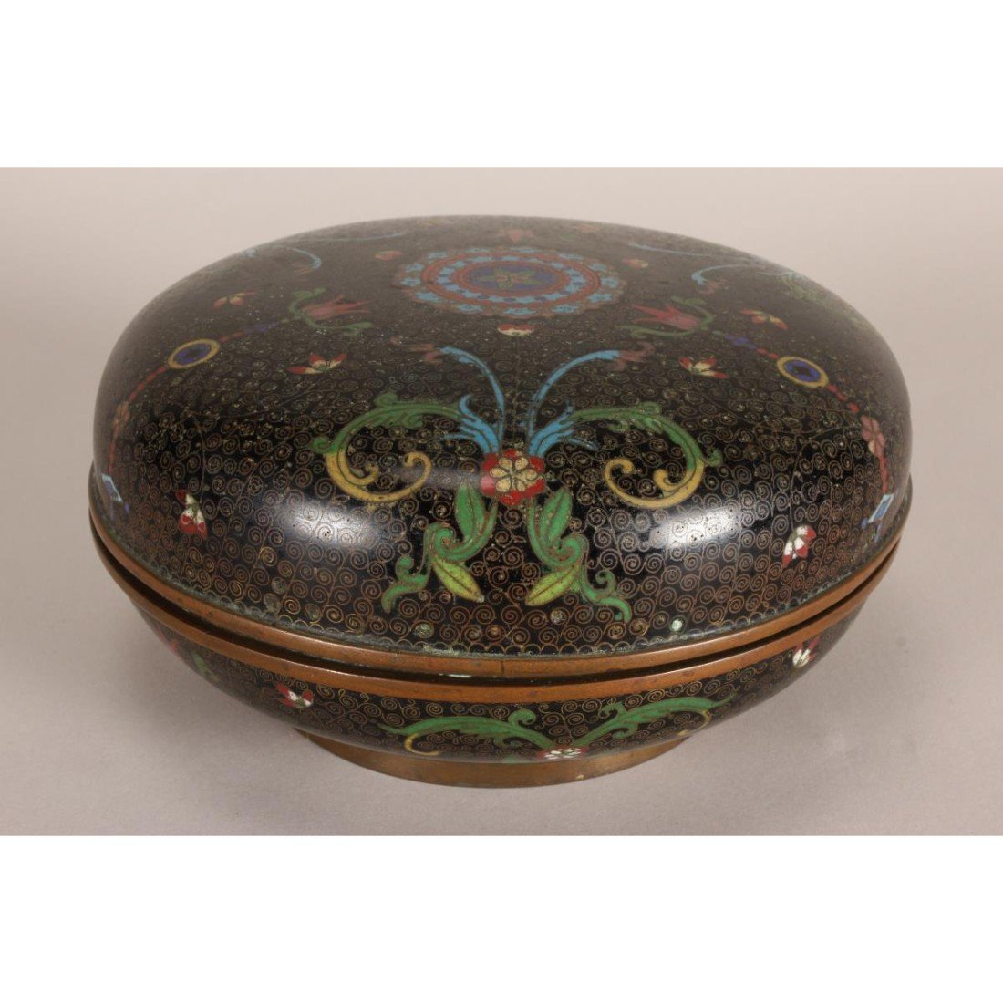 Good Japanese Cloisonne Box and Cover,