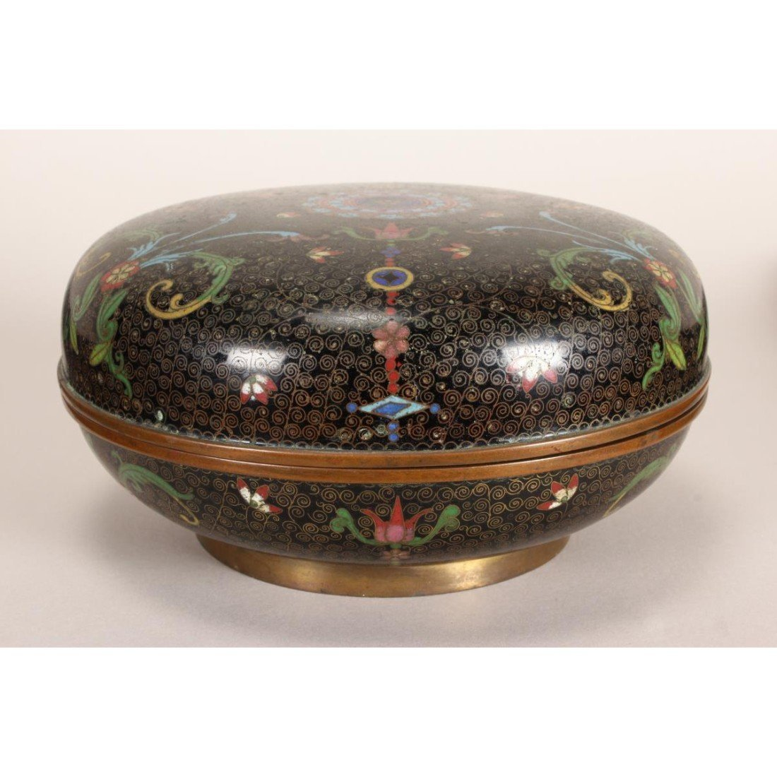 Good Japanese Cloisonne Box and Cover, - 3