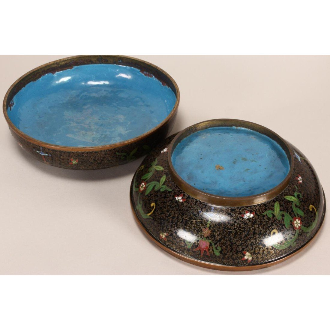 Good Japanese Cloisonne Box and Cover, - 5