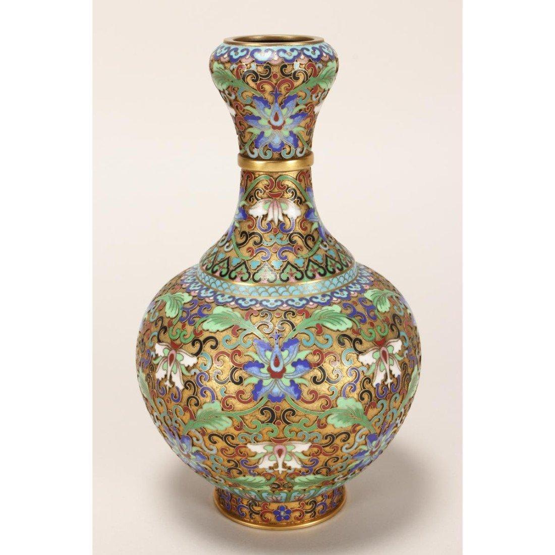 Japanese Cloisonne Garlic Head Vase,