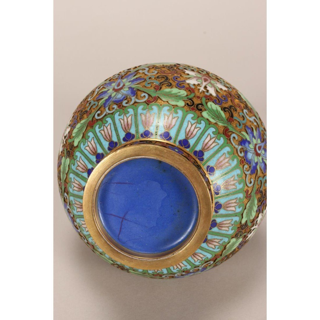 Japanese Cloisonne Garlic Head Vase, - 3
