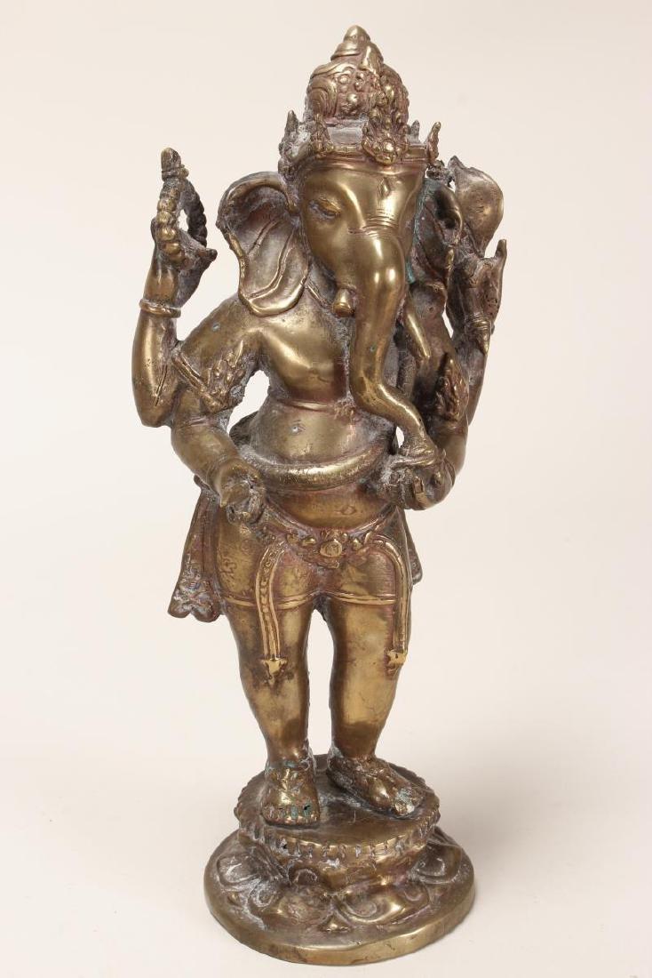 Indian Bronze Figure of Ganesha,