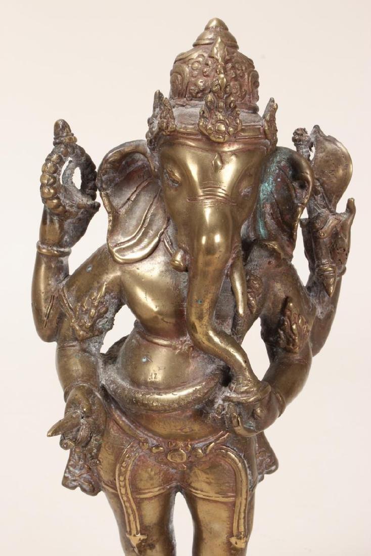 Indian Bronze Figure of Ganesha, - 2