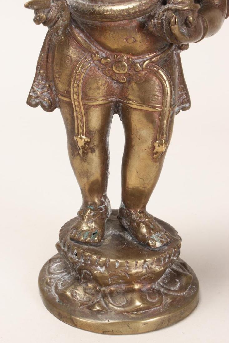 Indian Bronze Figure of Ganesha, - 3