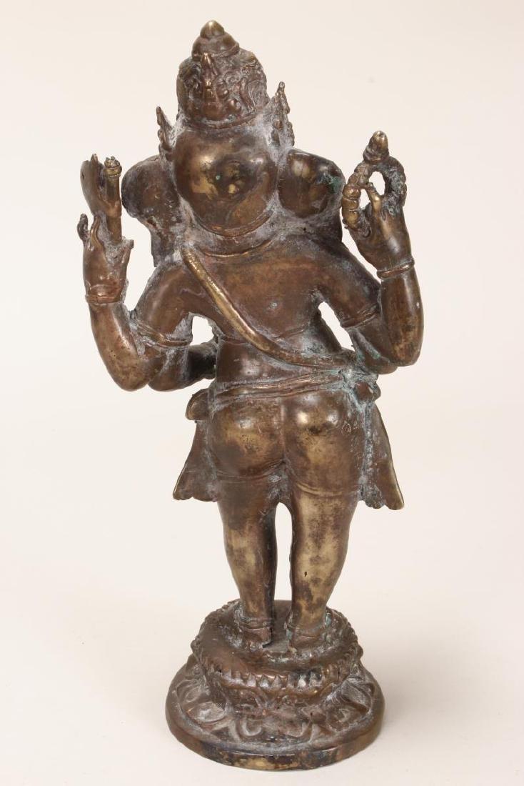 Indian Bronze Figure of Ganesha, - 5