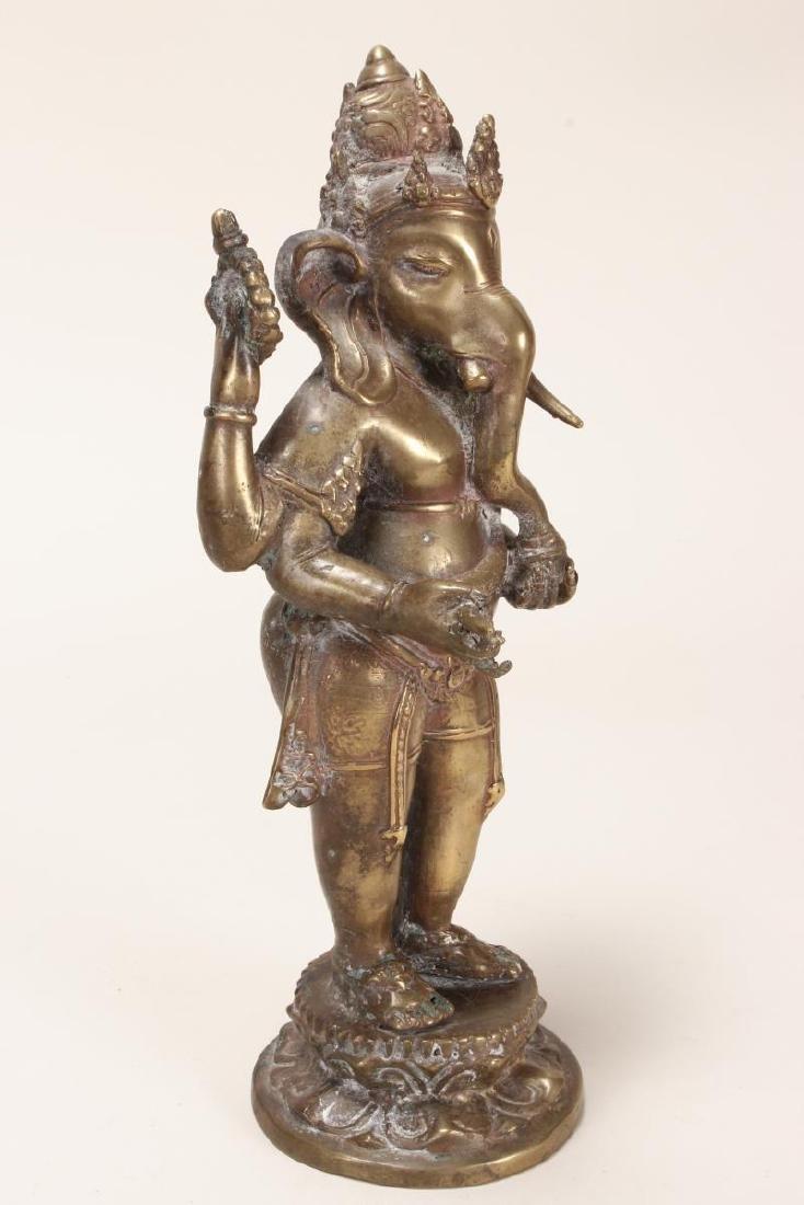 Indian Bronze Figure of Ganesha, - 6