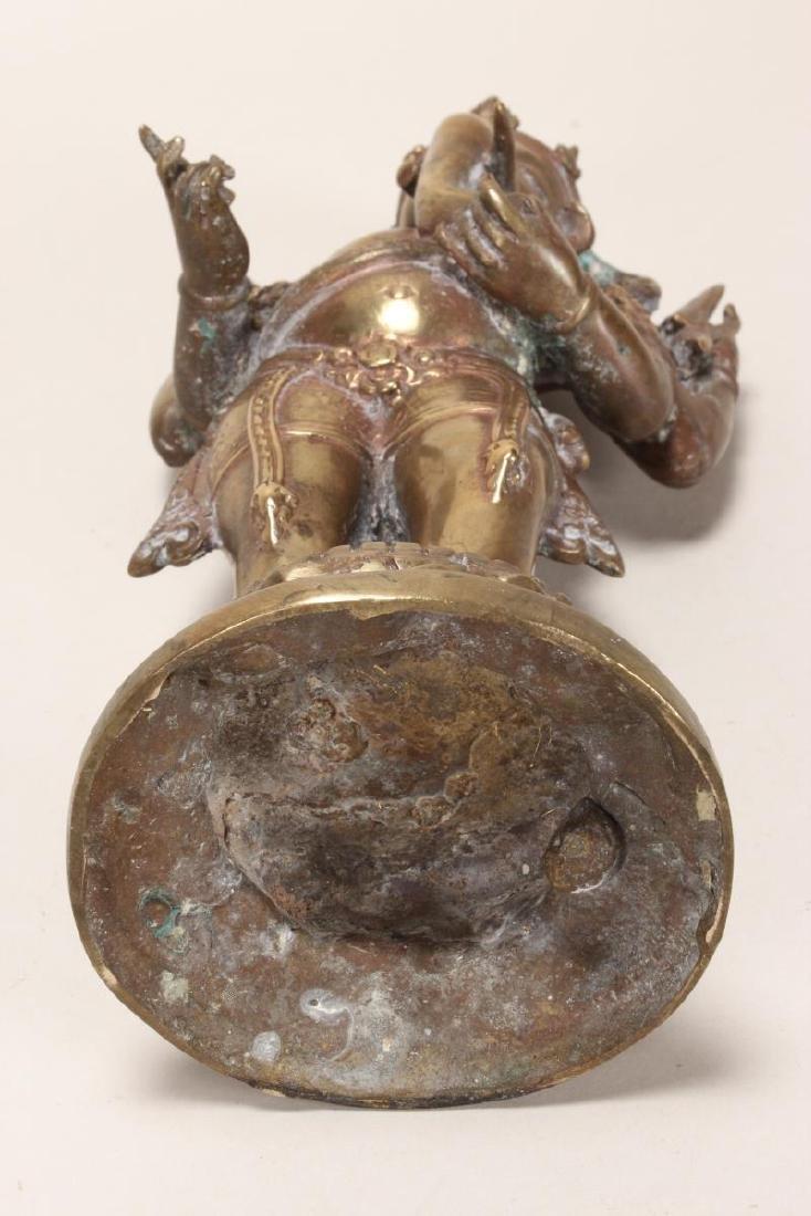Indian Bronze Figure of Ganesha, - 7