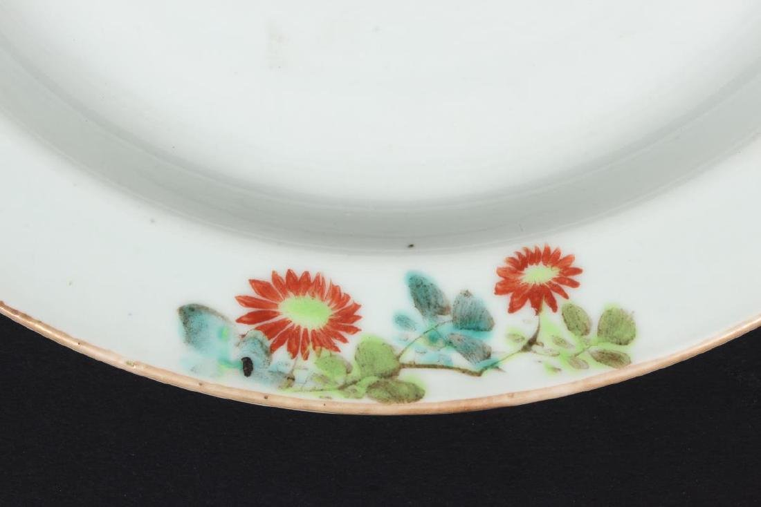 Chinese Qing Dynasty Porcelain Shallow Charger, - 2