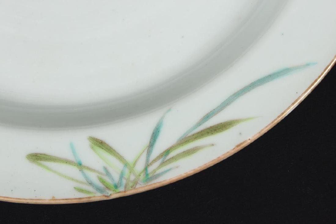Chinese Qing Dynasty Porcelain Shallow Charger, - 3