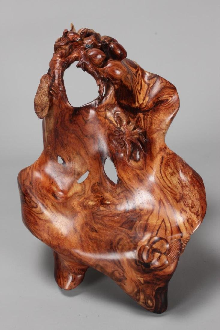 Chinese Carved Wooden Root,