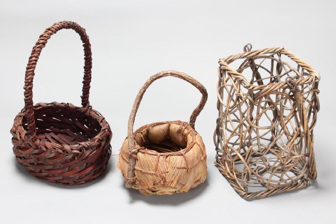 Three Japanese Ikebana Vases,
