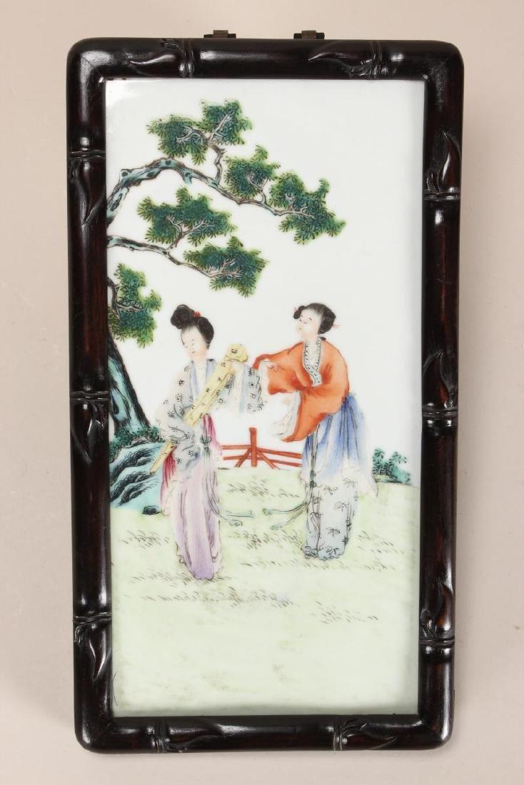 Chinese Porcelain Panel,