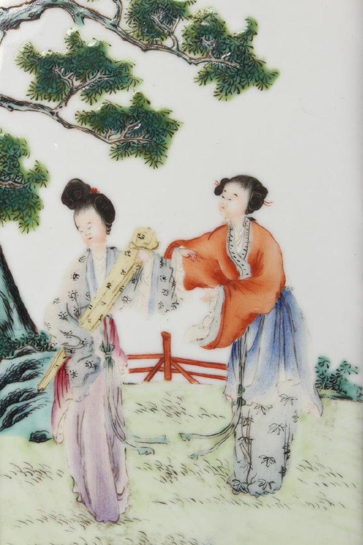 Chinese Porcelain Panel, - 2